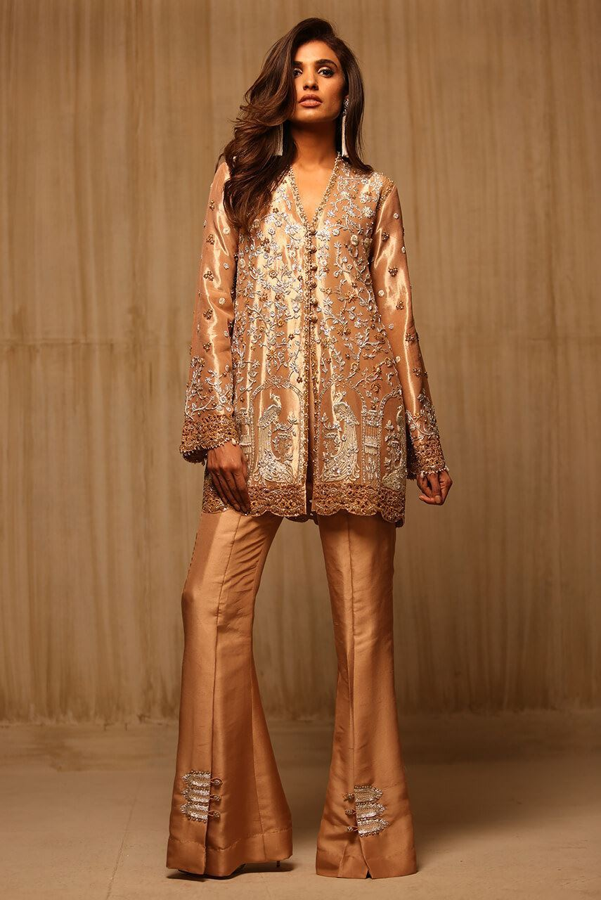 Pakistani Dresses With Bell Bottom Trousers