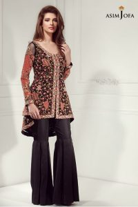 stylish-pakistani-designers-dresses-with-bell-bottom-pantstrousers-2017-5