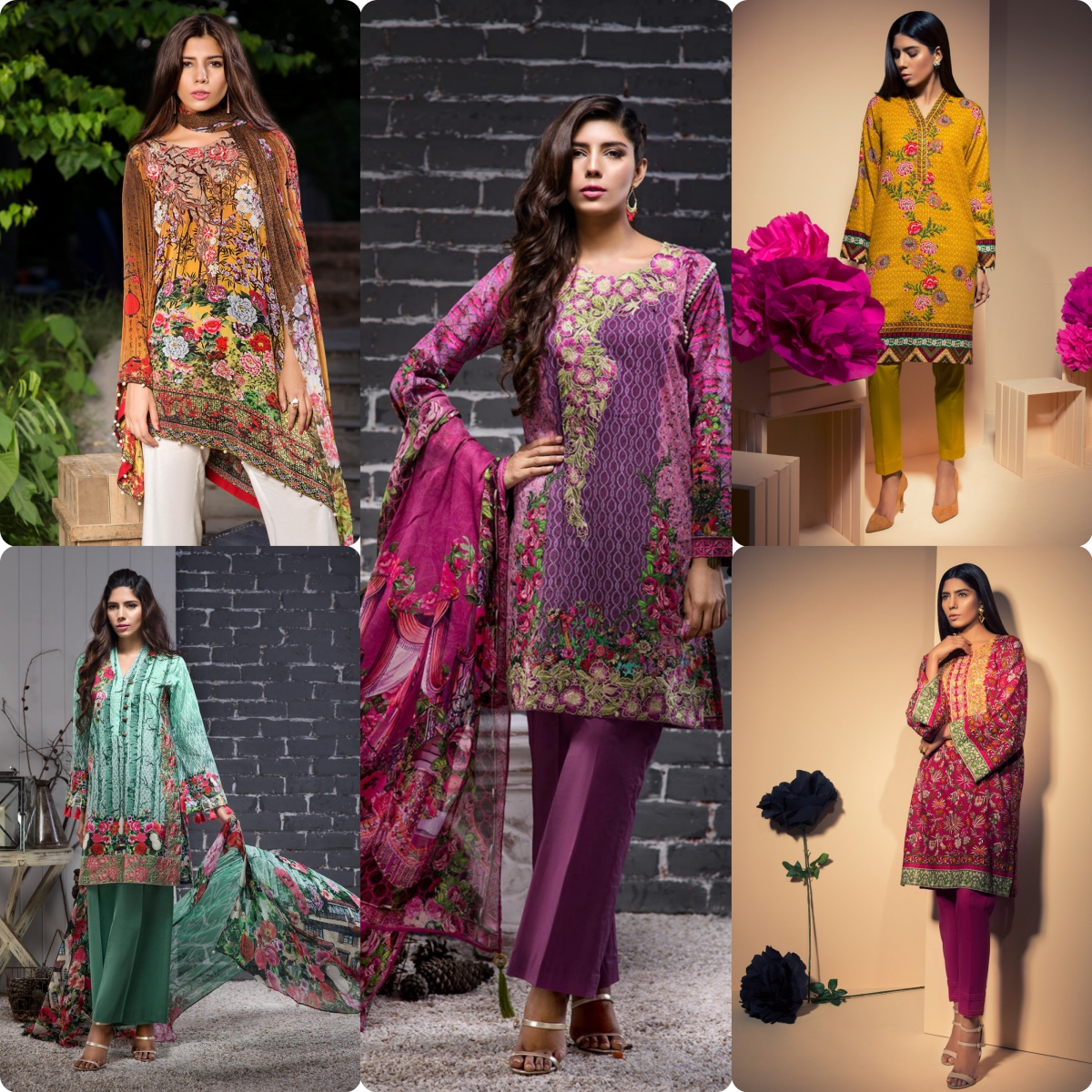 BeechTree Winter khaddar and Cambric Dresses Collection 2017-2018