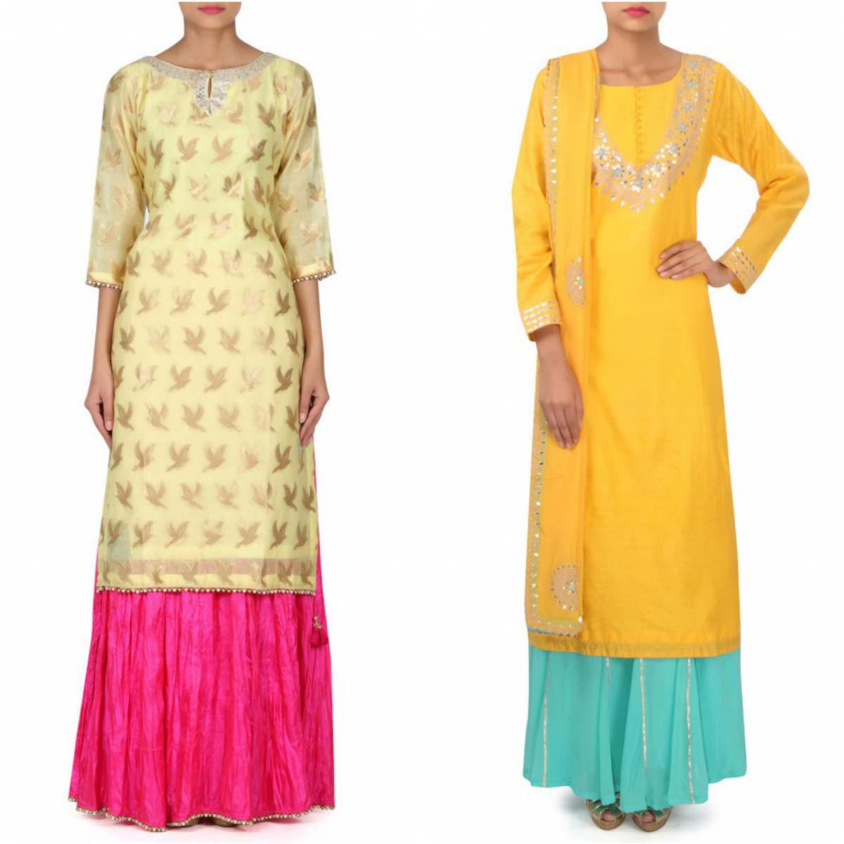 indian-bridal-mehndi-and-sangeet-lehenga-designs-2017-2018-by-kalki-fashion-2