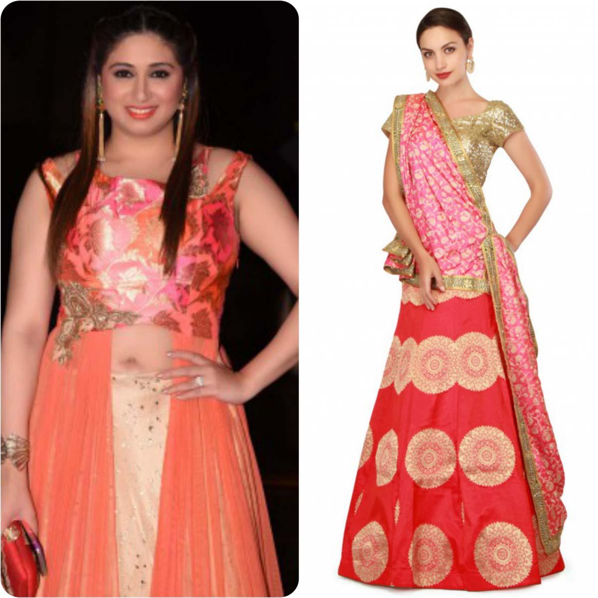 indian-bridal-mehndi-and-sangeet-lehenga-designs-2017-2018-by-kalki-fashion-3