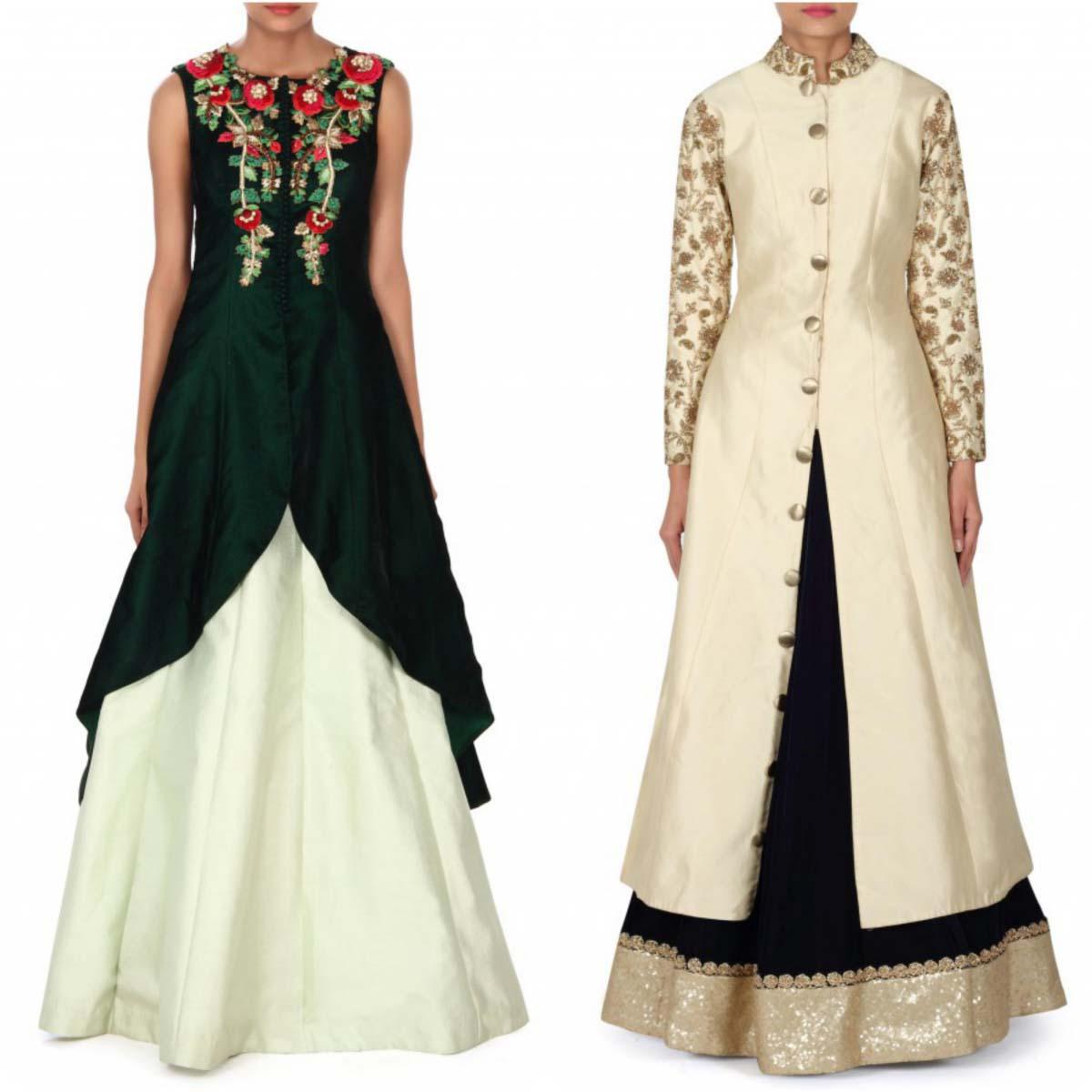 indian-bridal-mehndi-and-sangeet-lehenga-designs-2017-2018-by-kalki-fashion-4
