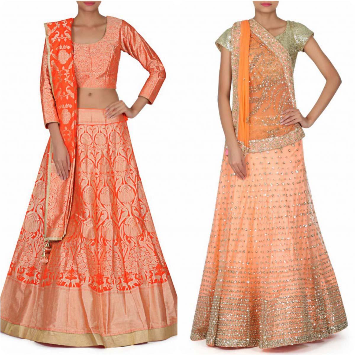 indian-bridal-mehndi-and-sangeet-lehenga-designs-2017-2018-by-kalki-fashion-5