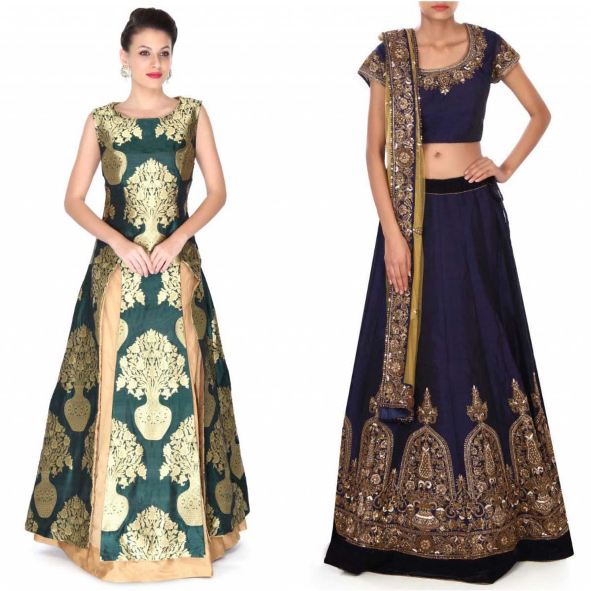 indian-bridal-mehndi-and-sangeet-lehenga-designs-2017-2018-by-kalki-fashion-6