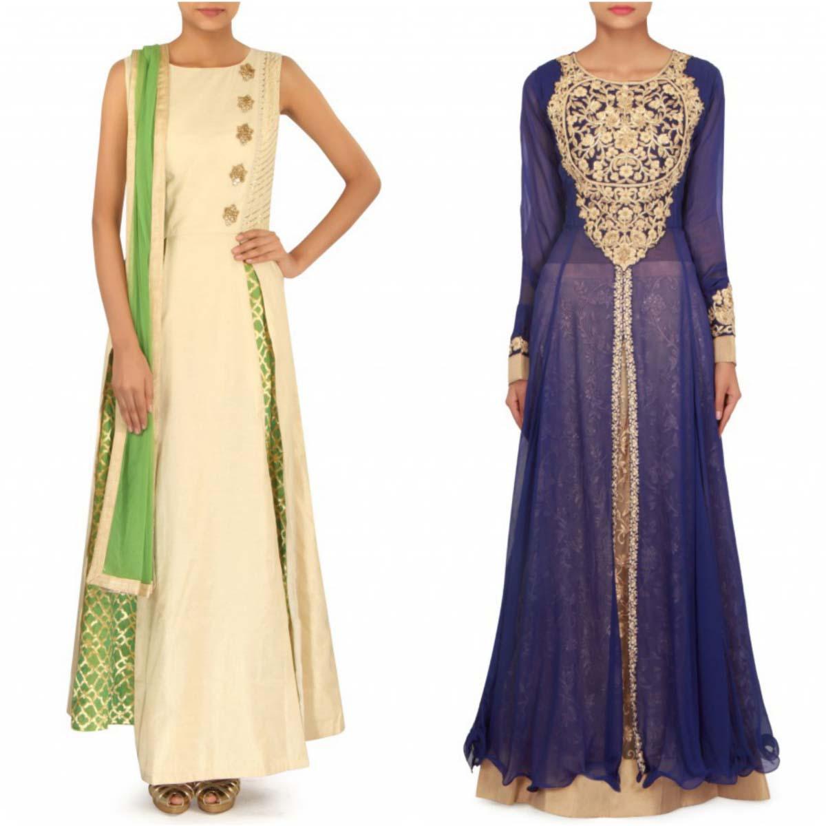 indian-bridal-mehndi-and-sangeet-lehenga-designs-2017-2018-by-kalki-fashion-7