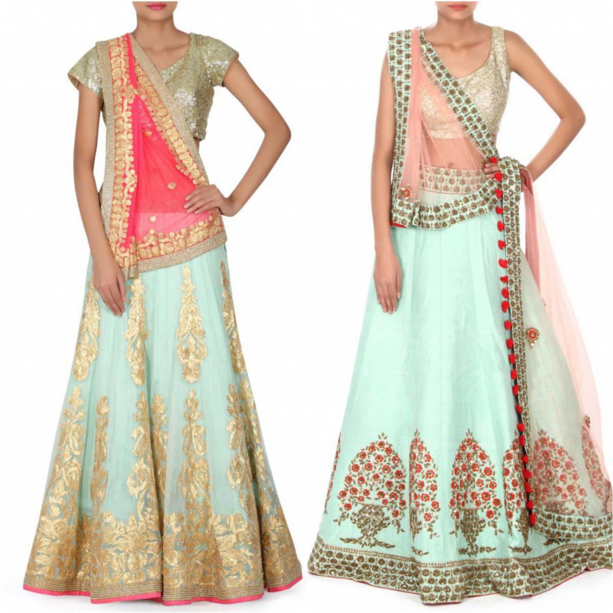 indian-bridal-mehndi-and-sangeet-lehenga-designs-2017-2018-by-kalki-fashion-8