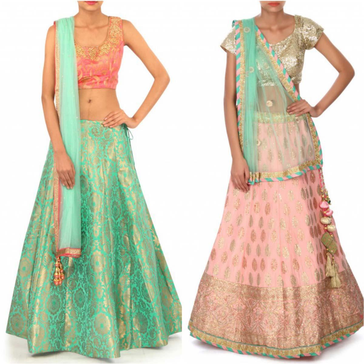 indian-bridal-mehndi-and-sangeet-lehenga-designs-2017-2018-by-kalki-fashion-9