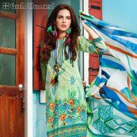 Gul Ahmed Summer Silk & Chiffon Dresses Collection 2017-2018 (1)
