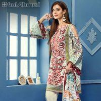 Gul Ahmed Summer Silk & Chiffon Dresses Collection 2017-2018 (4)