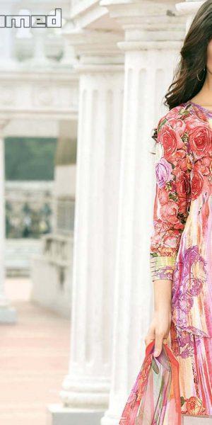 Gul Ahmed Summer Silk & Chiffon Dresses Collection 2017-2018 (5)