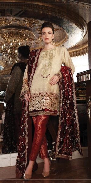 Maria.B Latest Bridal Wedding Dresses Collection 2017-2018 (13)