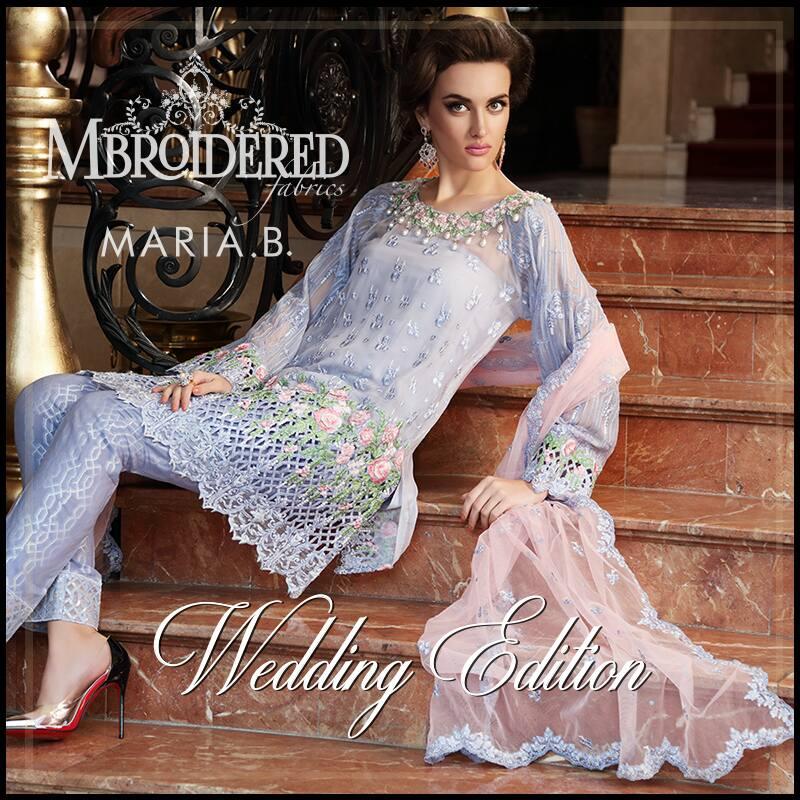 Maria.B Latest Bridal Wedding Dresses Collection 2017-2018