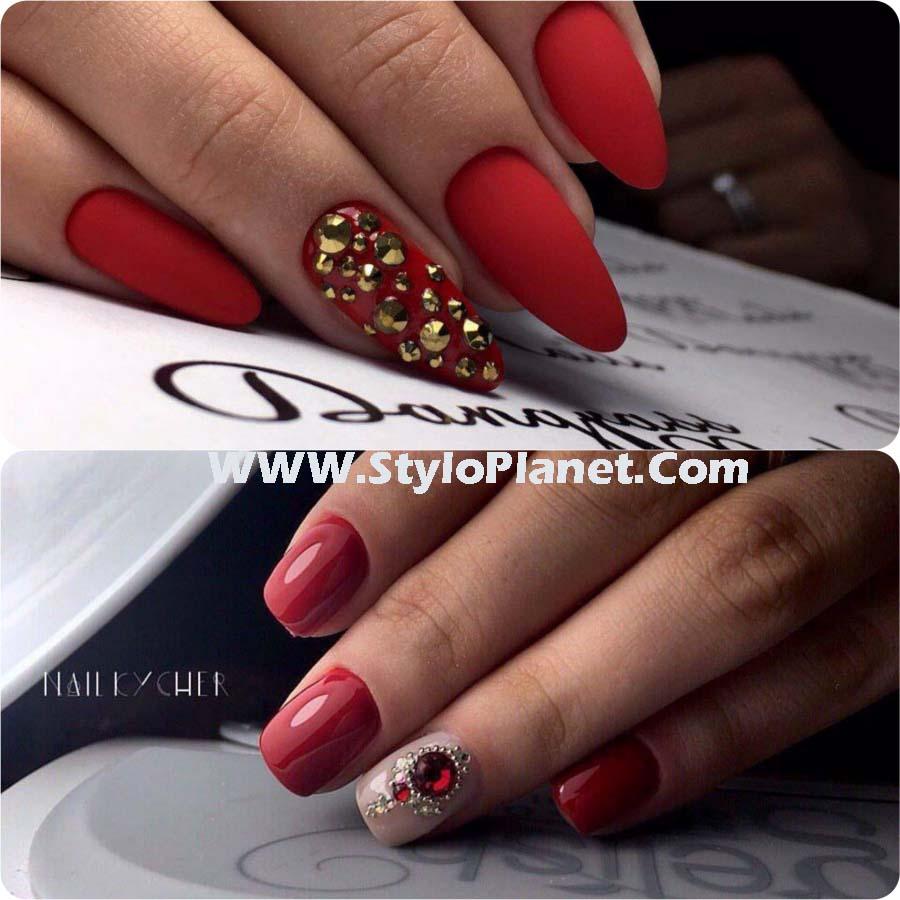 Most Beautiful Rhinestone Nail Art Designs & Ideas To Try