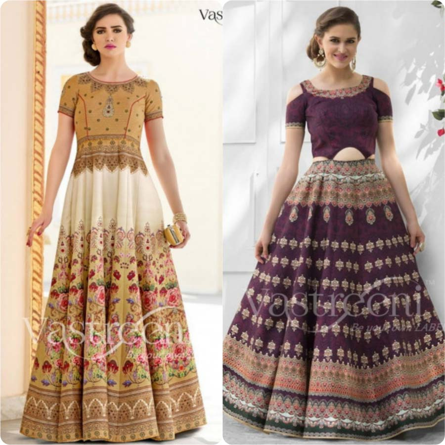 Indian Designers Latest Ghagra Choli Designs 2017-18 Collection