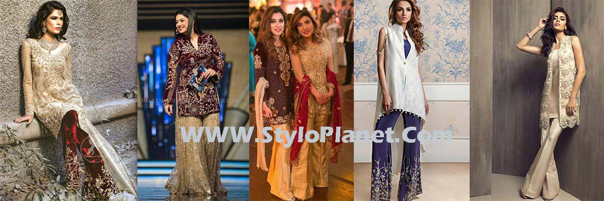 Party Wear Dresses by Indian and Pakistani Designers 2017-Latest Formal Dresses
