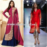 Party Wear Dresses by Indian and Pakistani Designers 2017-Latest Formal Dresses (19)