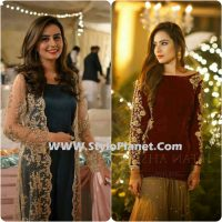 Party Wear Dresses by Indian and Pakistani Designers 2017-Latest Formal Dresses (7)