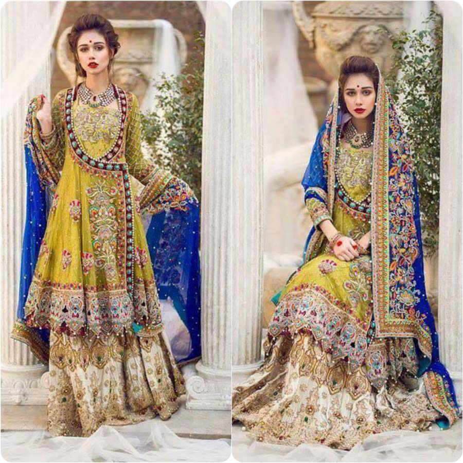 Latest Mehndi Dresses for Wedding