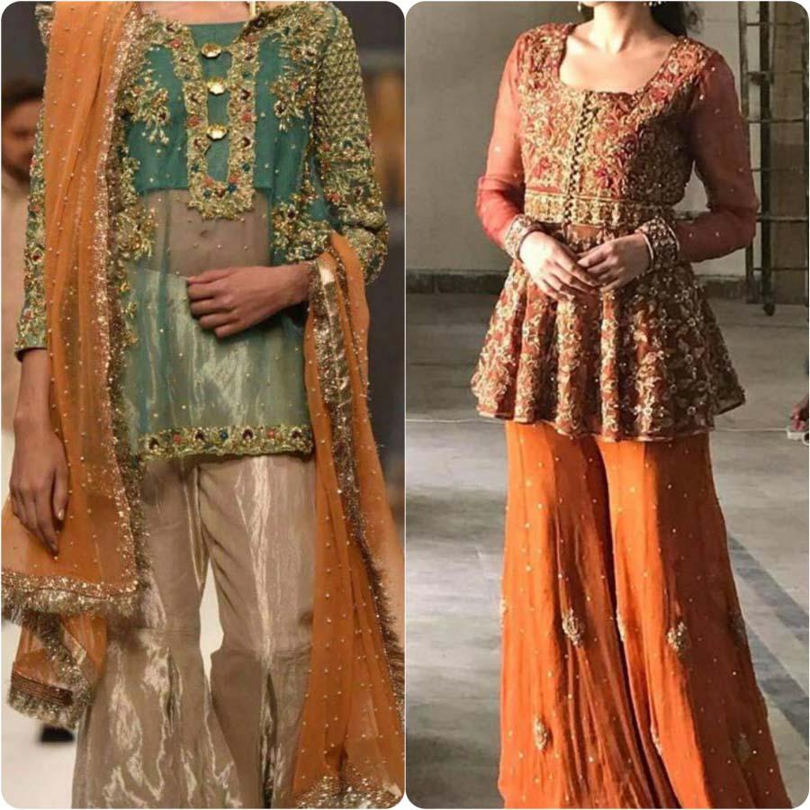 Bridal Mehndi Dresses 2017