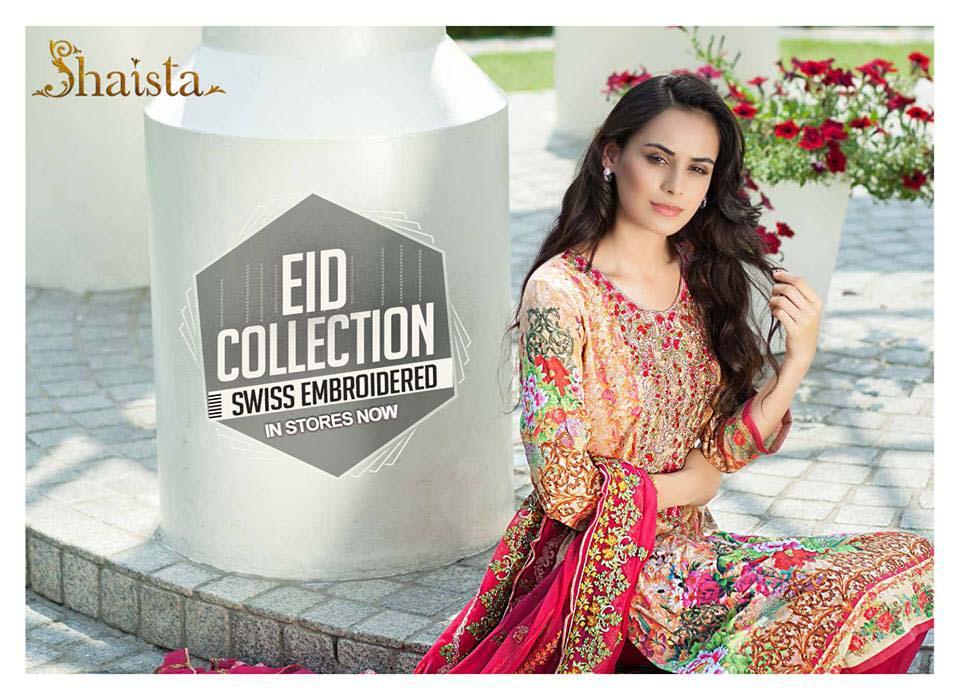 Shaista Cloth Luxury Swiss Embroidered Eid Collection 2017-18
