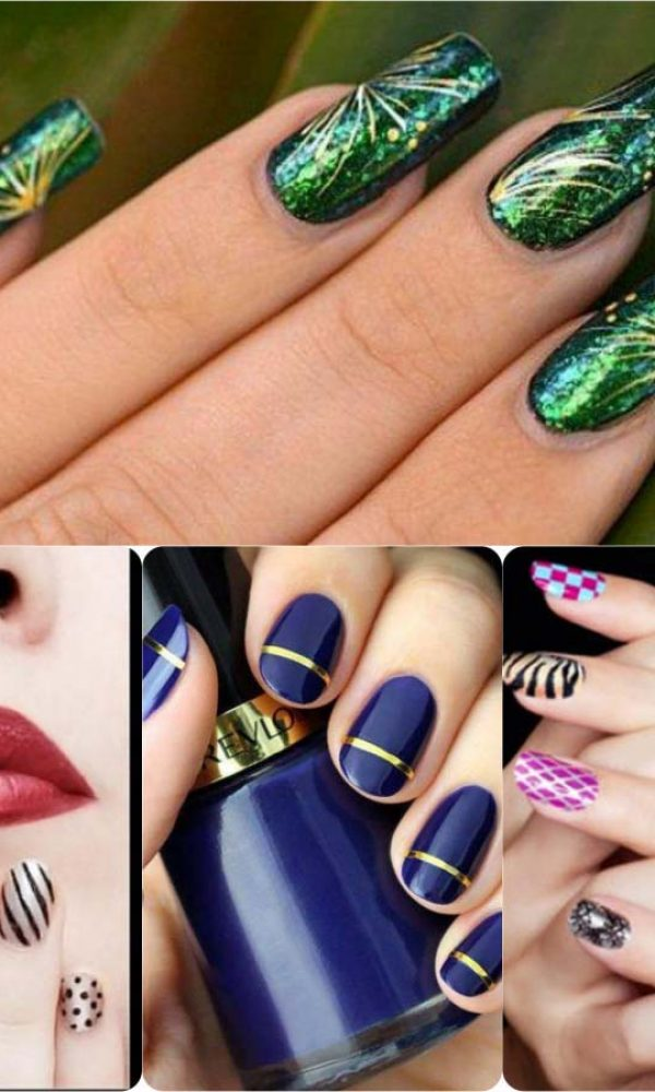 Beautiful Classy Eid Nail Paint Designs and Colors for Girls 2017-18 (13)