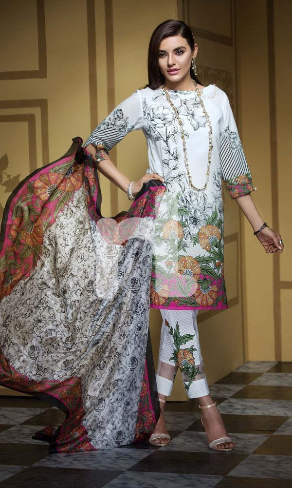Nishat Linen Printed and Embroidered Eid Dresses Collection 2017-18 (10)