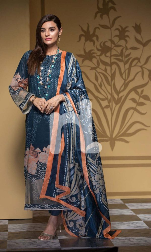Nishat Linen Printed and Embroidered Eid Dresses Collection 2017-18 (12)