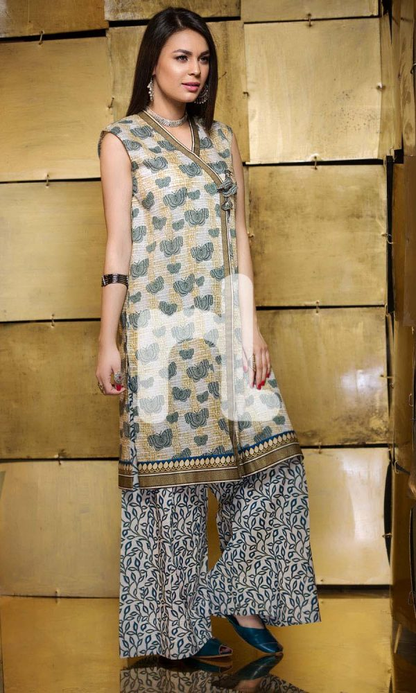 Nishat Linen Printed and Embroidered Eid Dresses Collection 2017-18 (2)