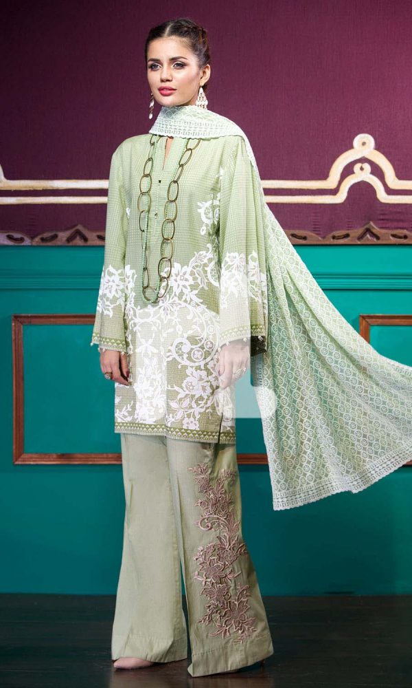 Nishat Linen Printed and Embroidered Eid Dresses Collection 2017-18 (3)