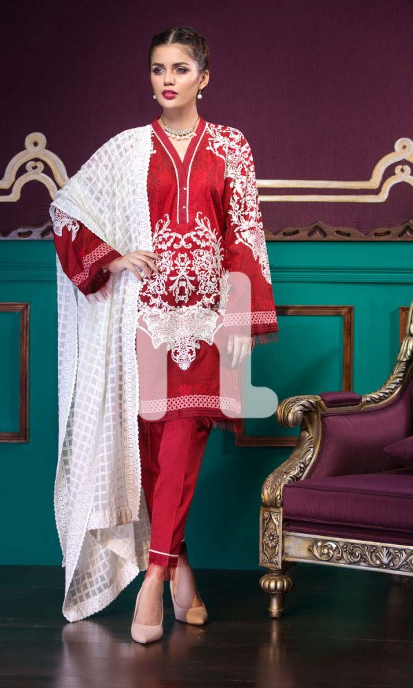 Nishat Linen Printed and Embroidered Eid Dresses Collection 2017-18 (4)