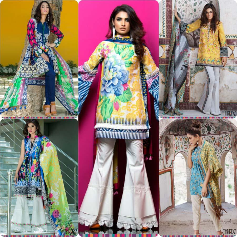 Thredz Unstitched Lawn Collection 2017-18 Eid Edition