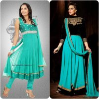 Party Wear Fancy Frock Designs for Girls 2017-18 Umbrella Frocks Collection (6)