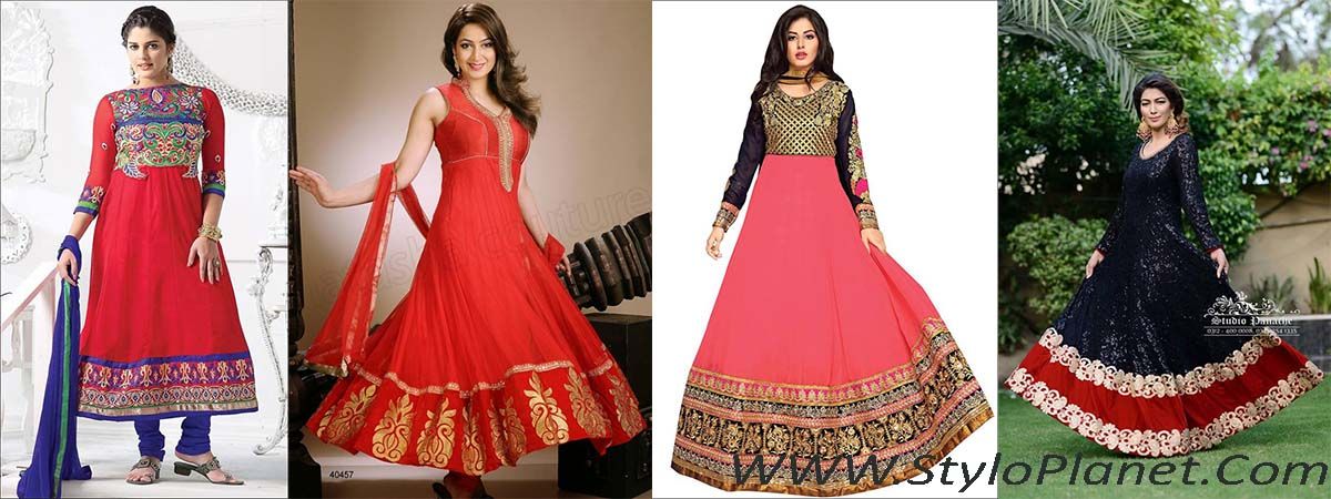 Party Wear Fancy Frock Designs for Girls 2017-18 Umbrella Frocks Collection