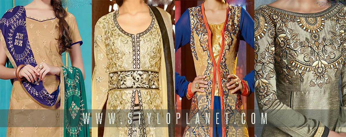 Women Neckline/Gala Designs of Casual and Formal Suits for Asian Women