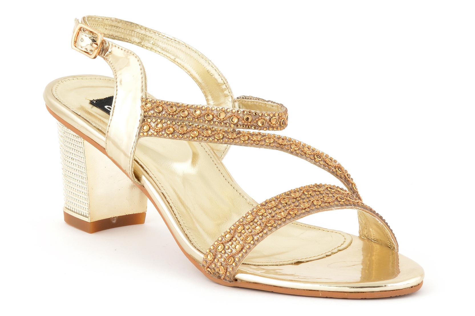 Golden High Heels