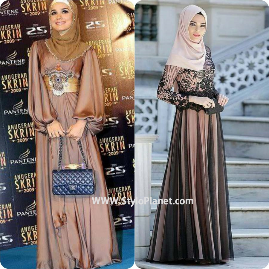 party wear Hijab and Abaya
