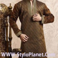 Latest Men Mehndi Dresses Shalwar Kameez and Kurta Designs 2017-2018 (13)