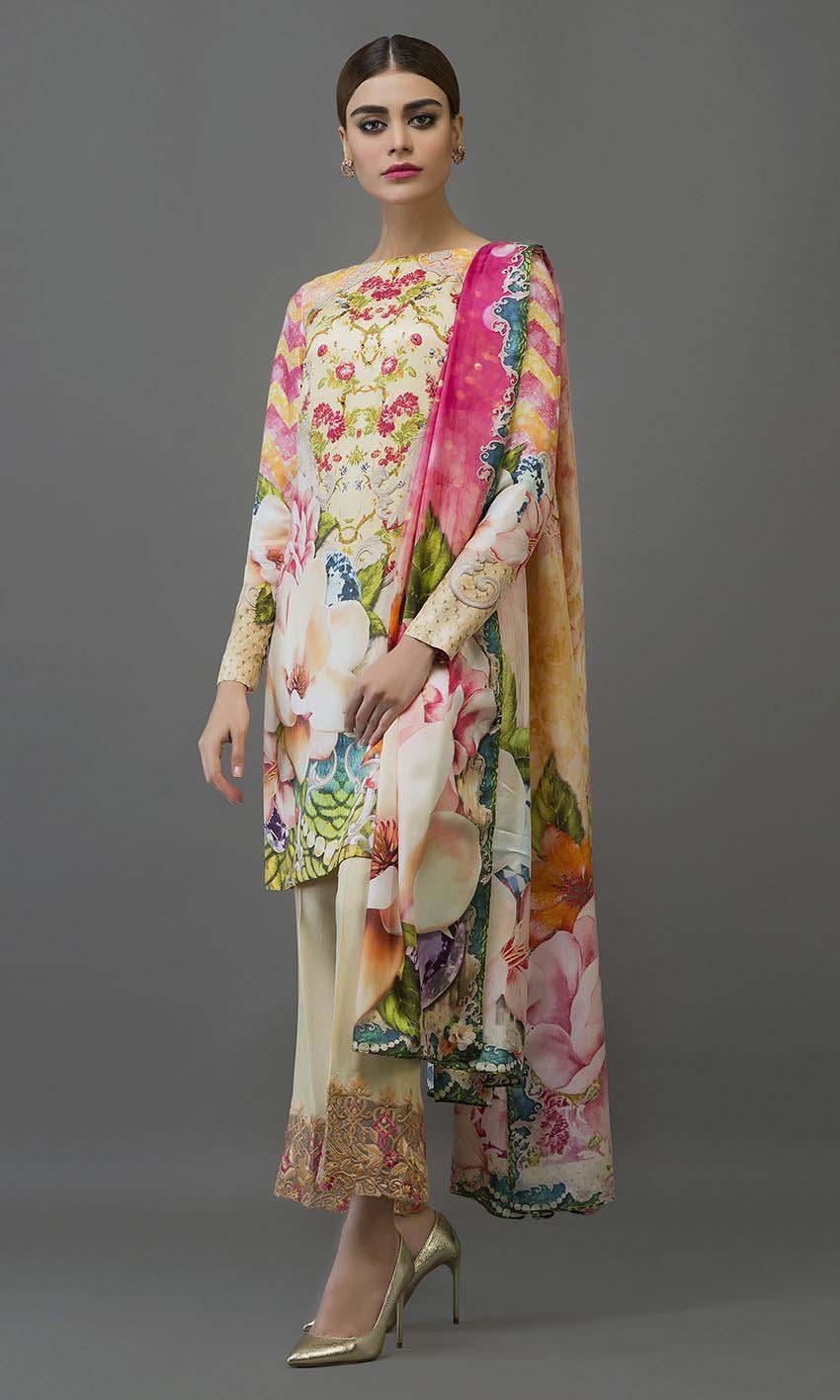 Latest Digital Printed Dresses