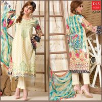 DLS Din LifeStyle Premium Winter Cambric Dresses Collection 2017-2018 (5)