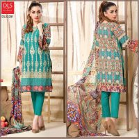 DLS Din LifeStyle Premium Winter Cambric Dresses Collection 2017-2018 (9)