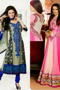 Latest Fashion of Pakistani and Indian Anarkali Frocks and Suits 2018-2019 (16)