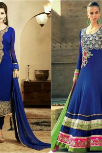 Latest Fashion of Pakistani and Indian Anarkali Frocks and Suits 2018-2019 (17)