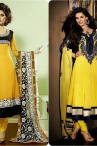 Latest Fashion of Pakistani and Indian Anarkali Frocks and Suits 2018-2019 (18)