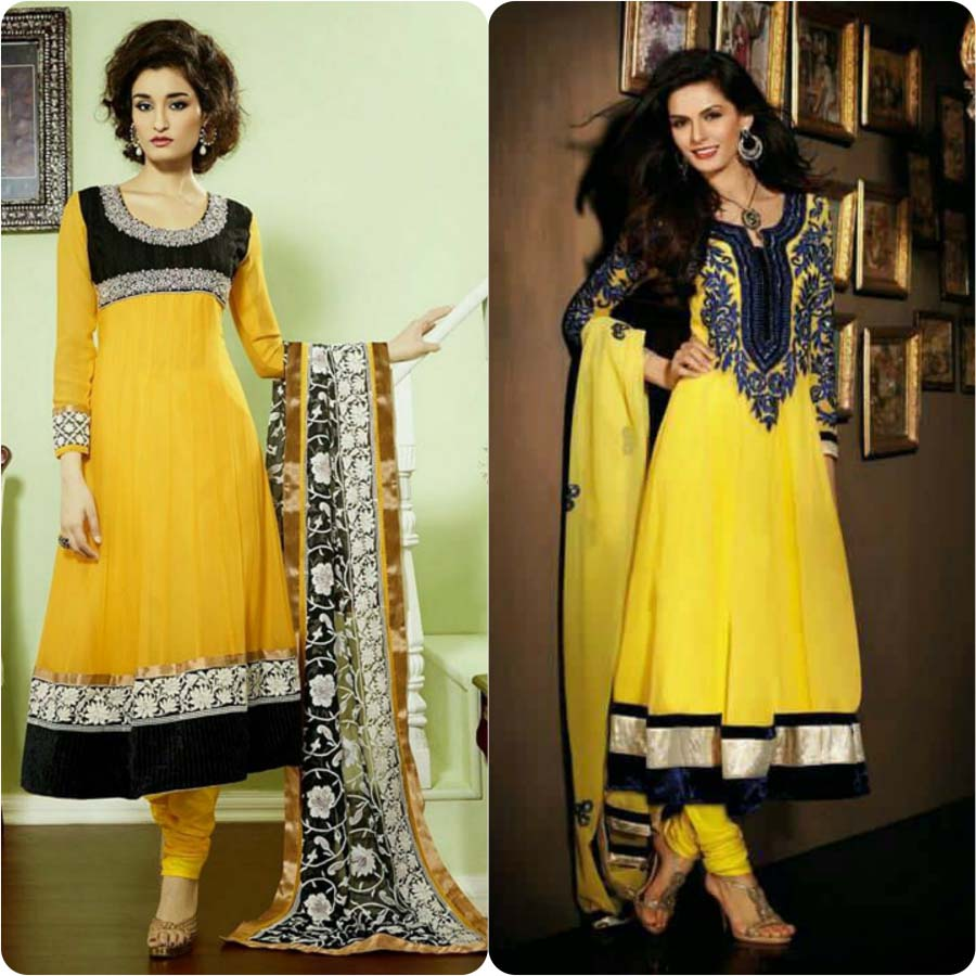 Latest Fashion of Pakistani and Indian Anarkali Frocks and Suits 2018-2019