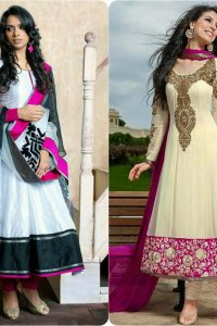Latest Fashion of Pakistani and Indian Anarkali Frocks and Suits 2018-2019 (19)
