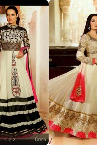 Latest Fashion of Pakistani and Indian Anarkali Frocks and Suits 2018-2019 (21)