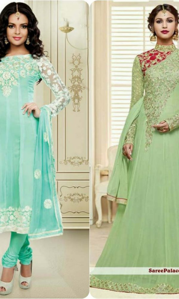 Latest Fashion of Pakistani and Indian Anarkali Frocks and Suits 2018-2019 (3)