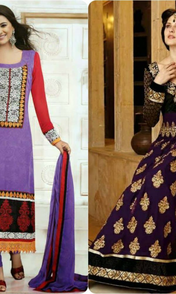 Latest Fashion of Pakistani and Indian Anarkali Frocks and Suits 2018-2019 (6)