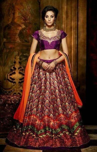 Latest Designs Bridal Crop Top Lehenga Designs 2018-2019