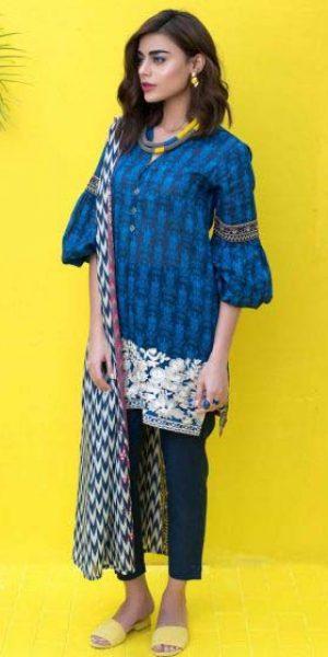 Khaadi Summer unstitch Lawn Collection 2018 (6)